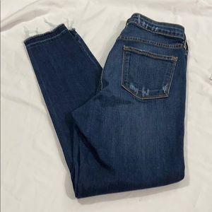 Just black High rise raw edge skinny jeans size 30